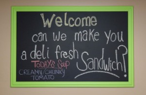 Fresh made sandwiches! Soups, Ice Cream and Snacks.