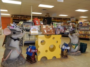 We have a huge selection of gift items and gourmet foods!